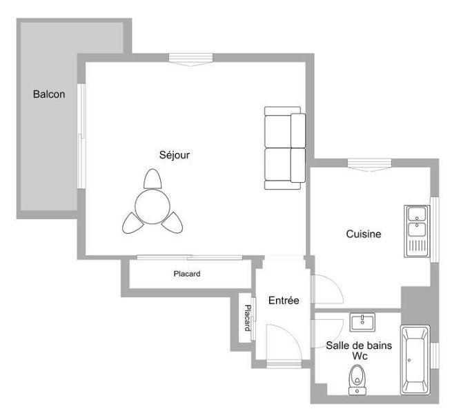 Appartement à vendre 1 36.14m2 à Mandelieu-la-Napoule plan-1