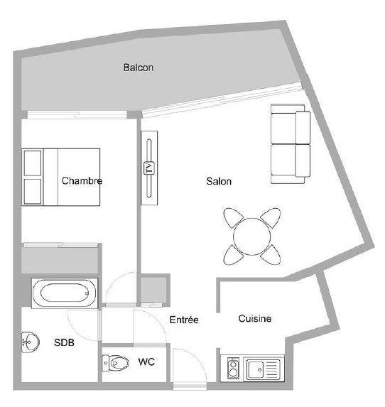 Appartement à vendre 2 46.1m2 à Mandelieu-la-Napoule plan-1