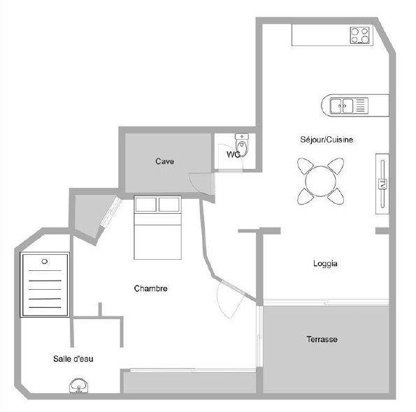 Appartement à vendre 2 52.38m2 à Théoule-sur-Mer plan-1