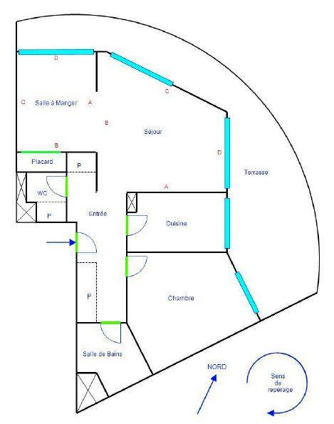 Appartement à vendre 3 60.11m2 à Mandelieu-la-Napoule plan-1