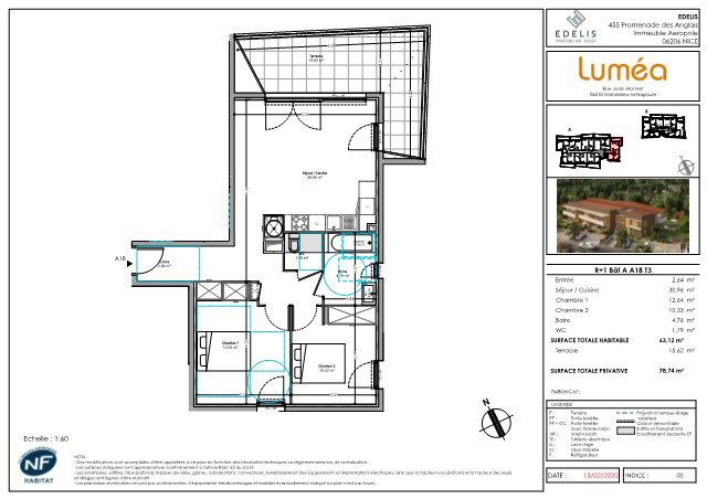 Appartement à vendre 3 63.12m2 à Mandelieu-la-Napoule vignette-2