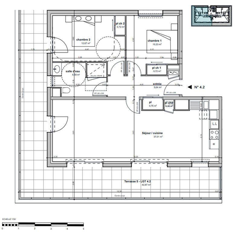 Appartement à vendre 3 74.69m2 à Argentan vignette-3