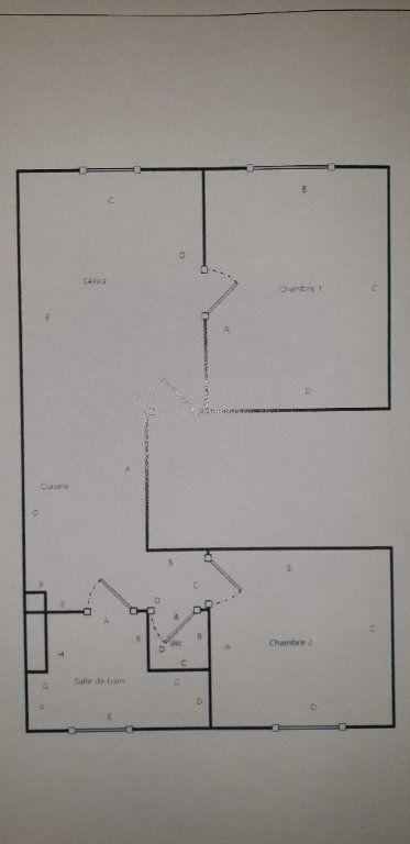 Appartement à louer 3 43.17m2 à Raismes plan-1