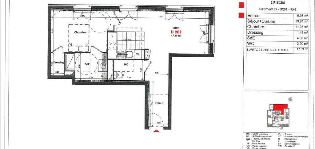 Appartement à louer 2 47.39m2 à Clamart vignette-7