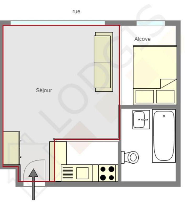 Appartement à louer 1 26m2 à Paris 15 vignette-5