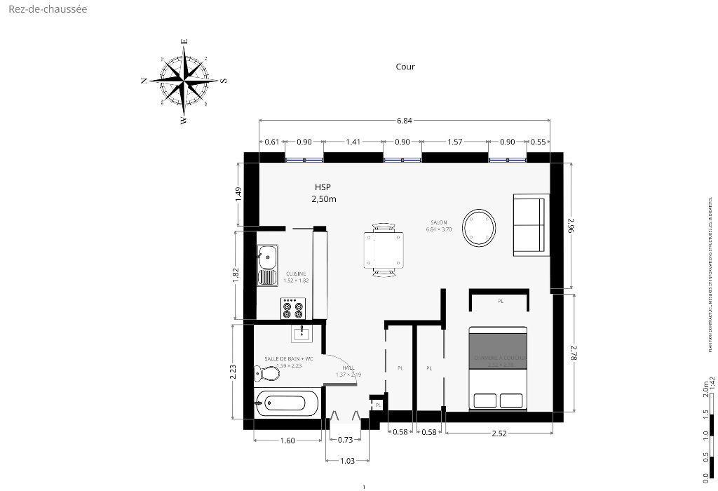 Appartement à louer 2 35.61m2 à Paris 7 vignette-9