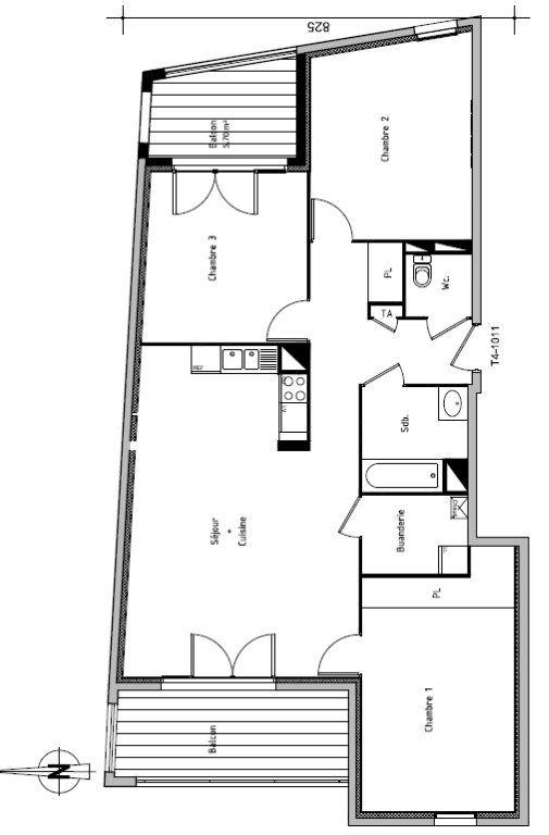 Appartement à louer 4 90.27m2 à Rillieux-la-Pape vignette-1