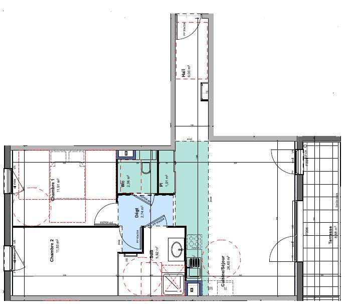 Appartement à louer 3 68.37m2 à Rillieux-la-Pape vignette-1
