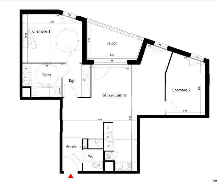 Appartement à louer 3 69.52m2 à Villeurbanne vignette-1