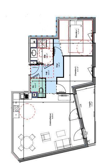 Appartement à louer 3 69.58m2 à Rillieux-la-Pape vignette-1