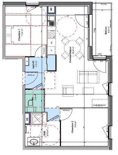 Appartement à louer 3 61.93m2 à Rillieux-la-Pape vignette-1