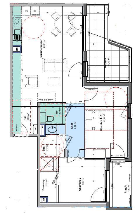 Appartement à louer 3 68.94m2 à Rillieux-la-Pape vignette-1