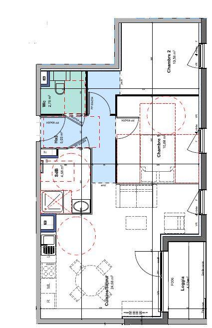 Appartement à louer 3 58.63m2 à Rillieux-la-Pape vignette-1