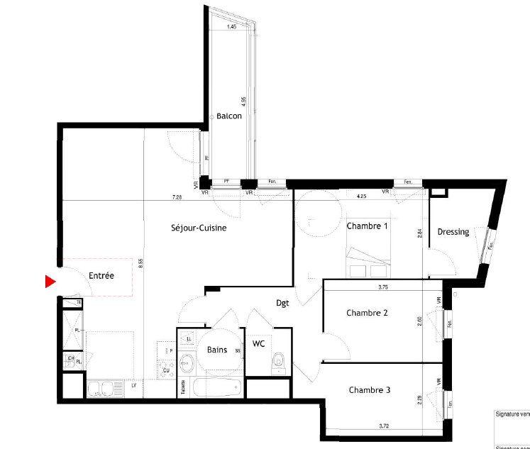 Appartement à louer 4 92.68m2 à Villeurbanne vignette-1