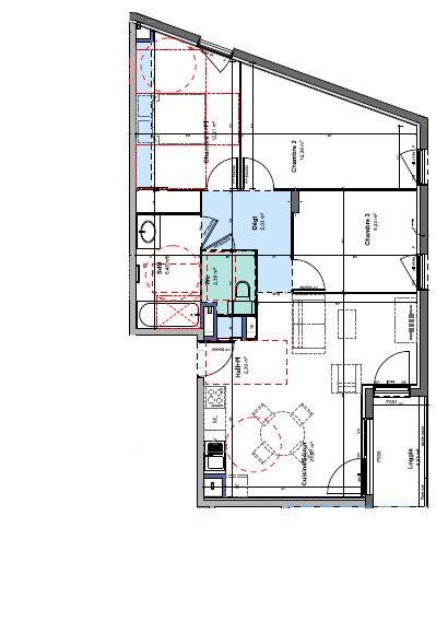 Appartement à louer 4 72.56m2 à Rillieux-la-Pape vignette-1
