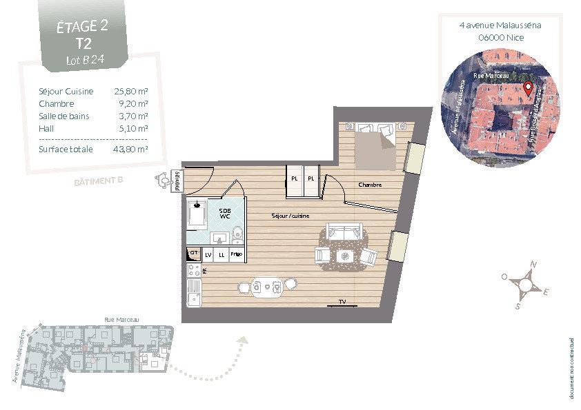 Appartement à vendre 2 43.8m2 à Nice vignette-3