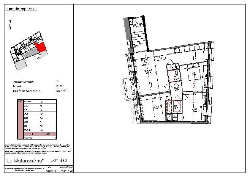 Appartement à vendre 4 68.4m2 à Nice vignette-3