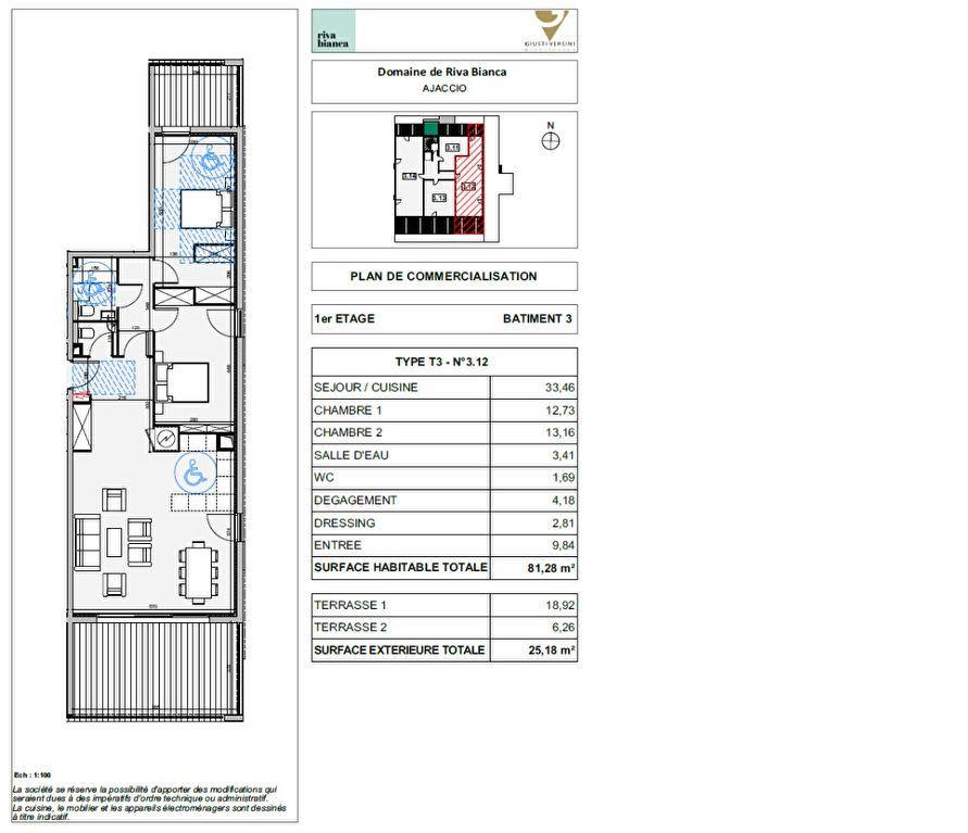 Appartement à vendre 3 81.28m2 à Ajaccio vignette-2