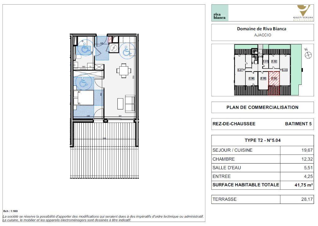 Appartement à vendre 2 41.75m2 à Ajaccio vignette-2