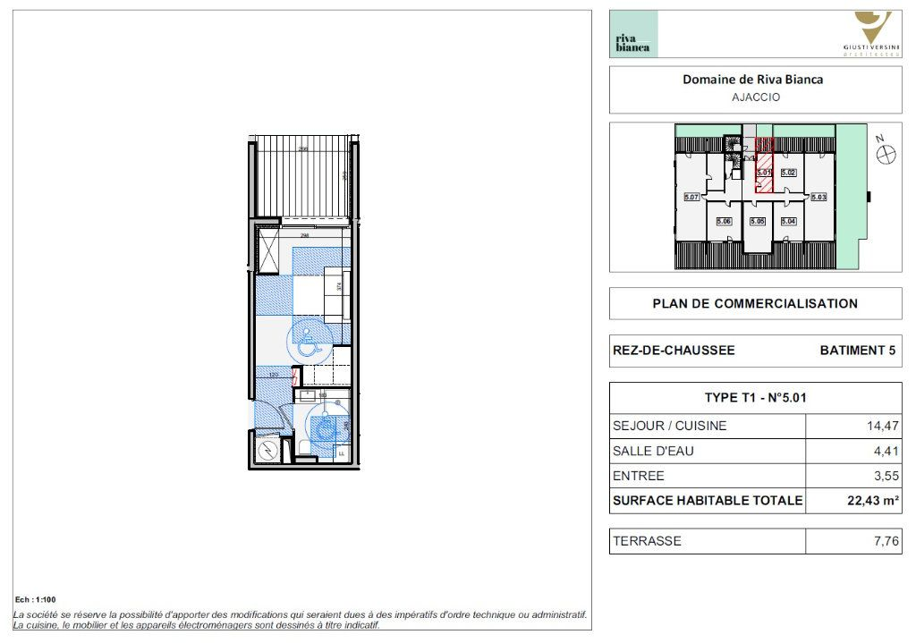 Appartement à vendre 1 22.43m2 à Ajaccio vignette-2