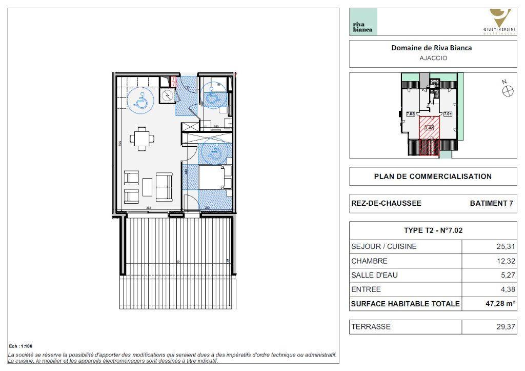 Appartement à vendre 2 47.28m2 à Ajaccio vignette-2