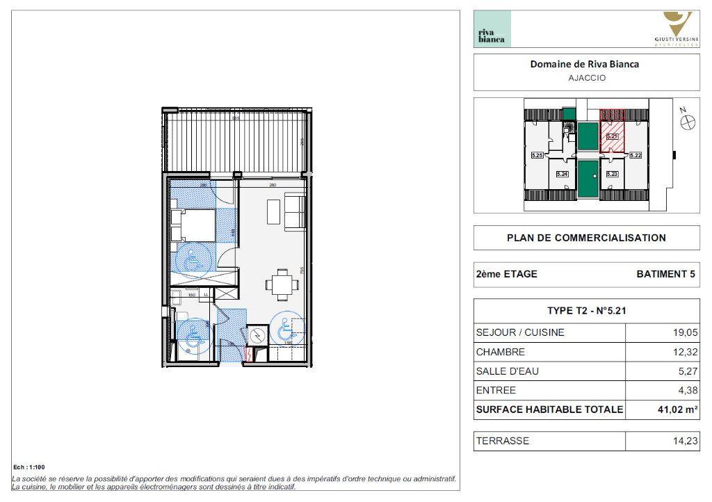 Appartement à vendre 2 41.02m2 à Ajaccio vignette-3