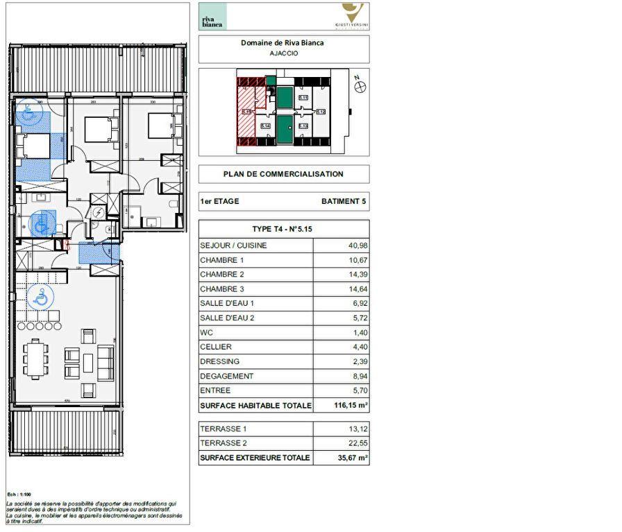 Appartement à vendre 4 116.15m2 à Ajaccio vignette-2