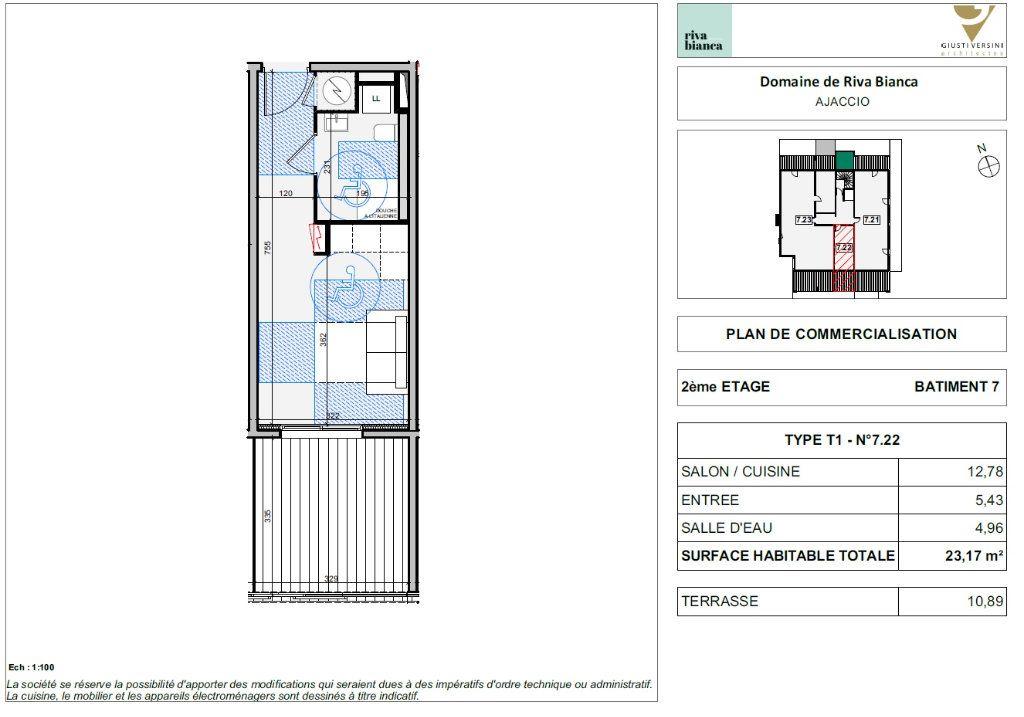 Appartement à vendre 1 22.58m2 à Ajaccio vignette-2