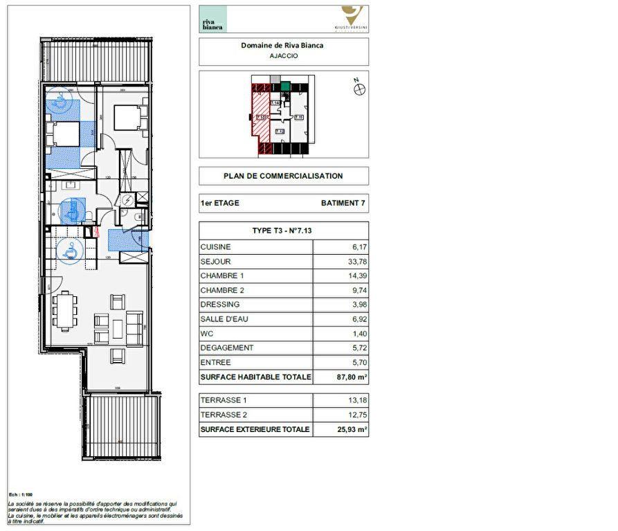 Appartement à vendre 3 87.7m2 à Ajaccio vignette-2