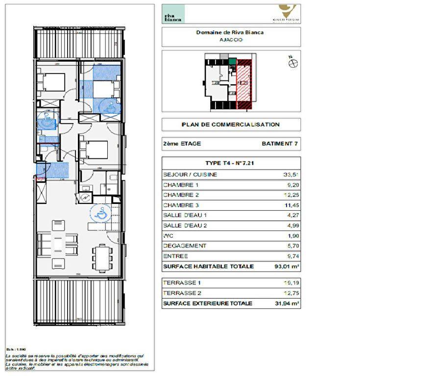 Appartement à vendre 4 93.01m2 à Ajaccio vignette-2