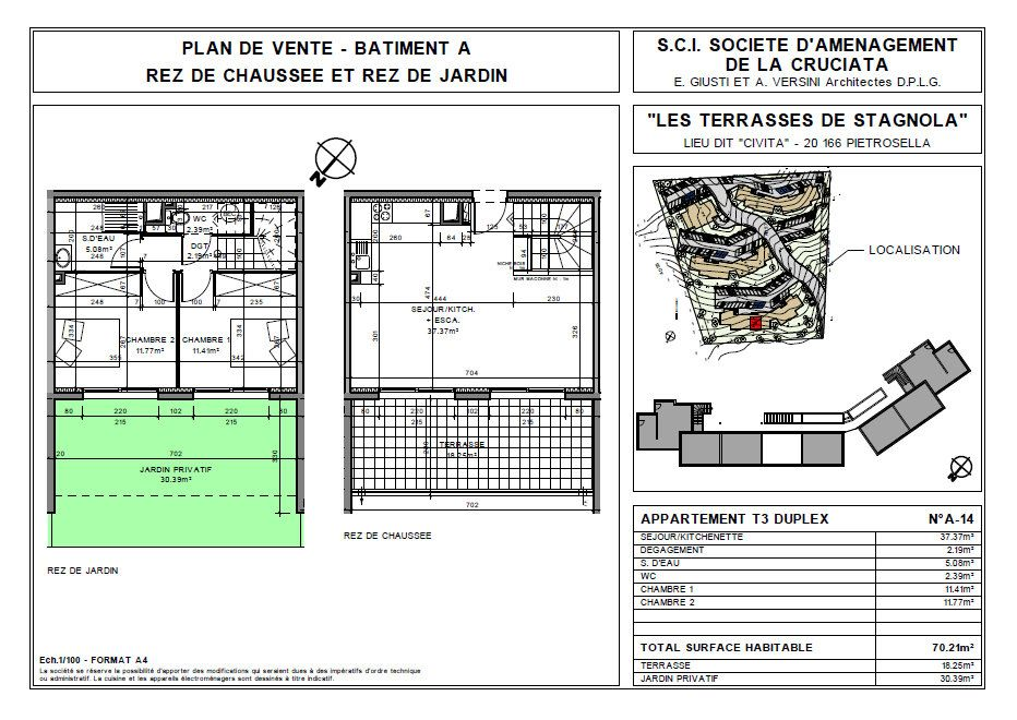 Appartement à vendre 3 70.21m2 à Pietrosella vignette-4