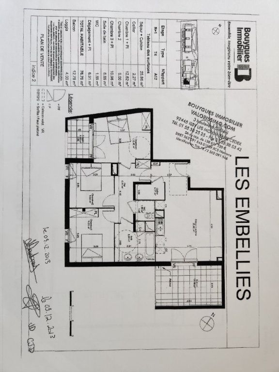 Appartement à vendre 4 76.75m2 à Toulouse plan-1