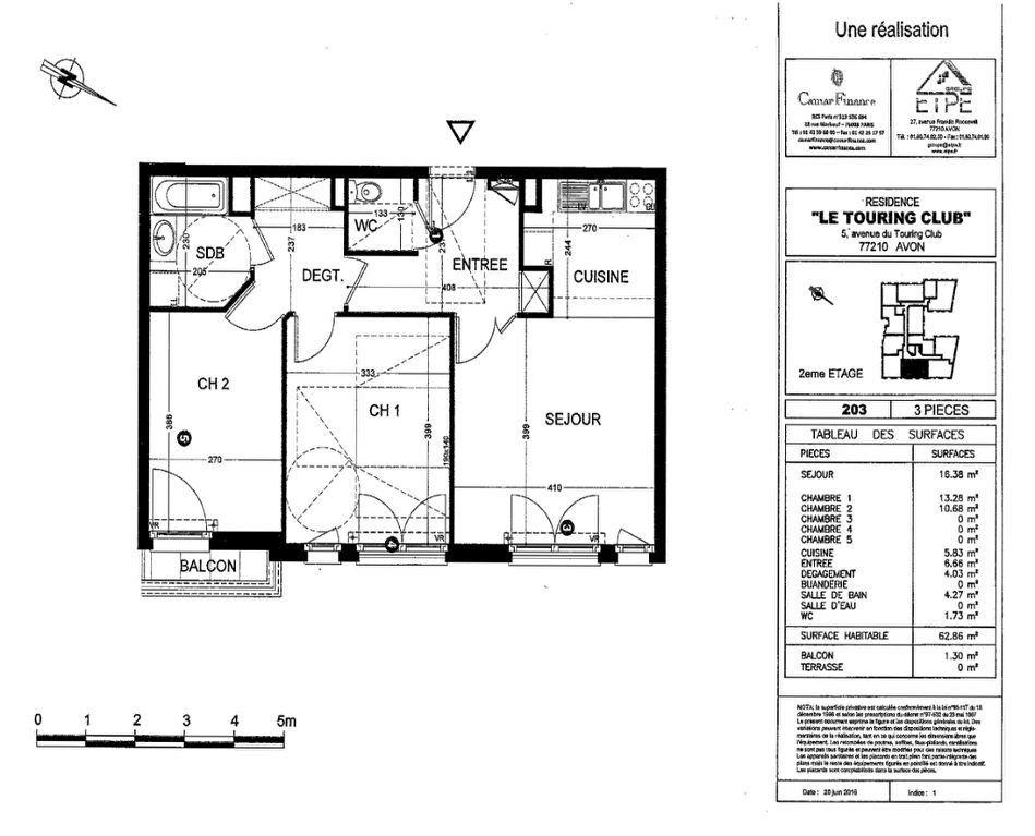Appartement à louer 3 63m2 à Avon vignette-8