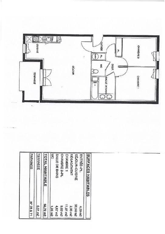 Appartement à vendre 3 65m2 à Launaguet vignette-1