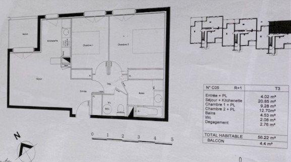 Appartement à vendre 3 56m2 à Castelginest vignette-1