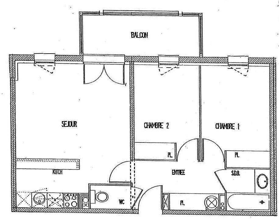 Appartement à vendre 3 52.8m2 à Castelginest vignette-1