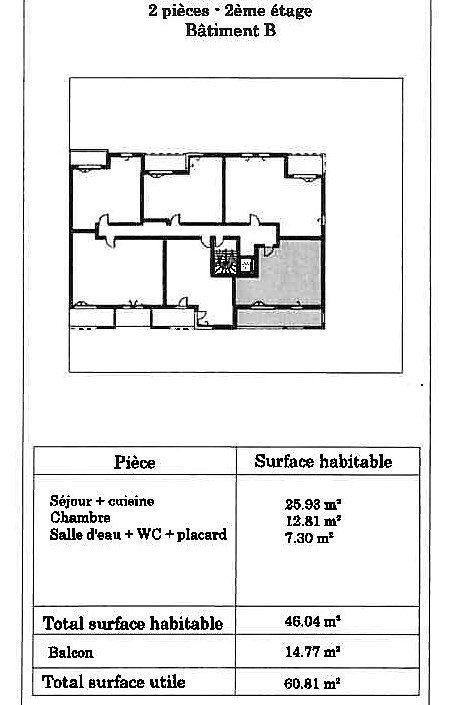 Appartement à vendre 2 46m2 à Launaguet vignette-6