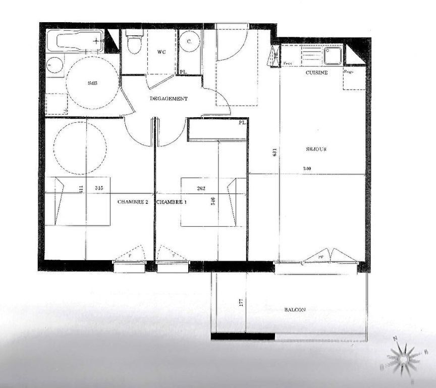 Appartement à vendre 3 59m2 à Launaguet vignette-1