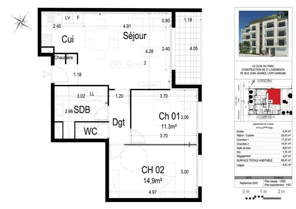 Appartement à vendre 3 67m2 à Livry-Gargan vignette-2