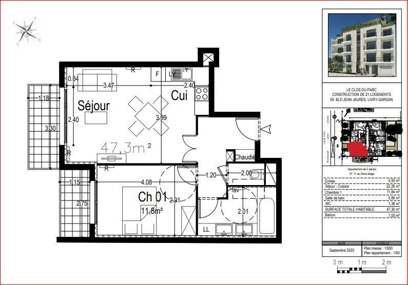 Appartement à vendre 2 47.3m2 à Livry-Gargan vignette-2