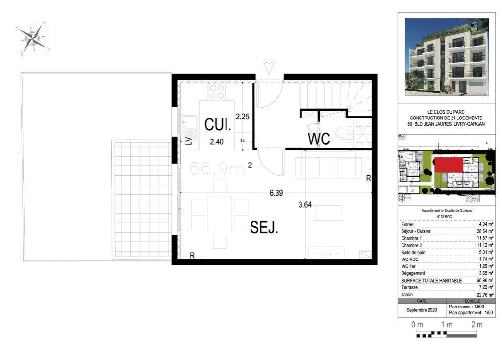 Appartement à vendre 3 66.64m2 à Livry-Gargan vignette-2