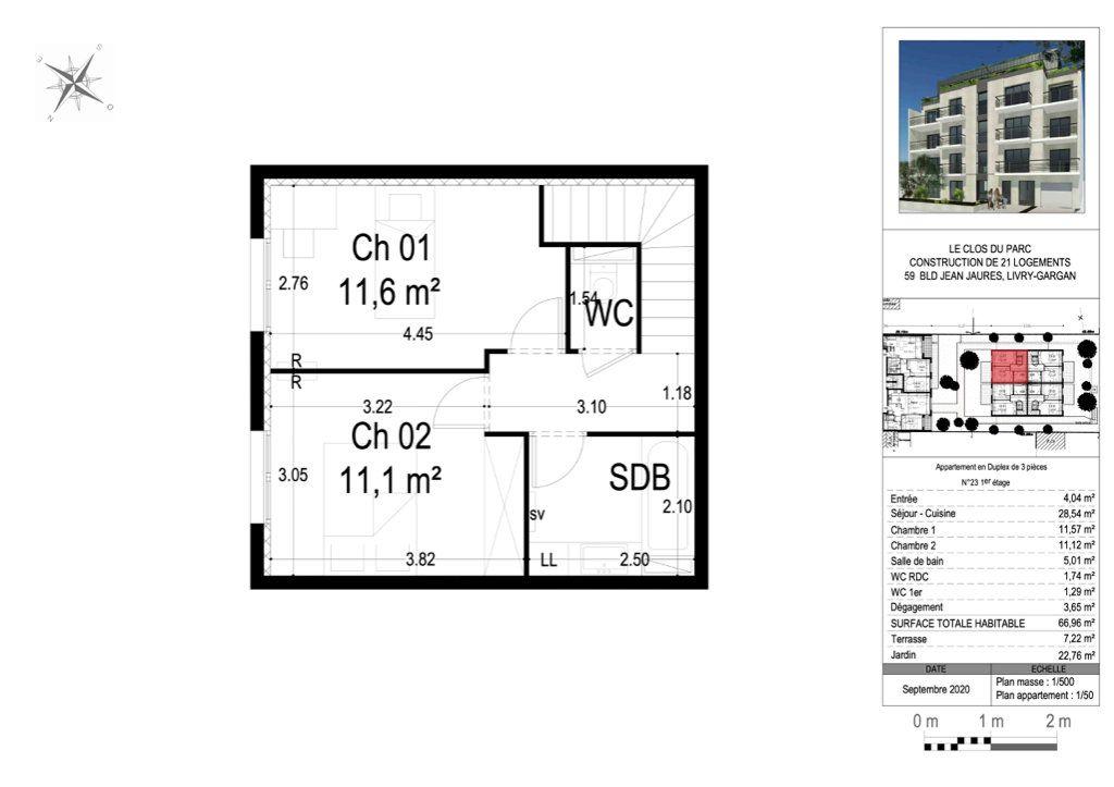 Appartement à vendre 3 66.64m2 à Livry-Gargan vignette-3