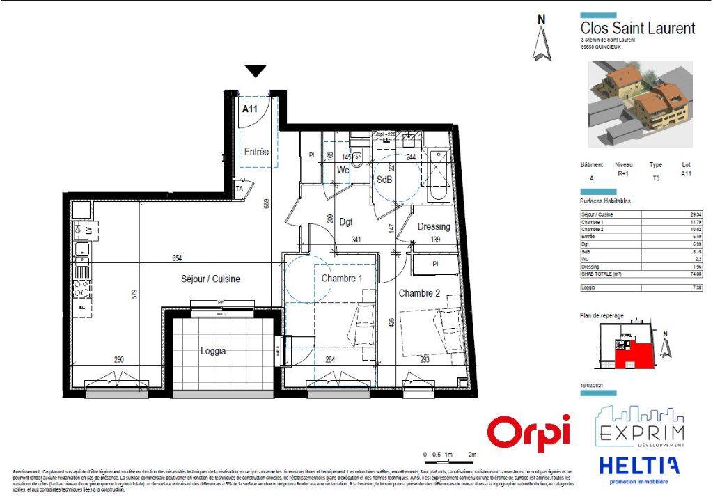 Appartement à vendre 3 74.08m2 à Quincieux vignette-3