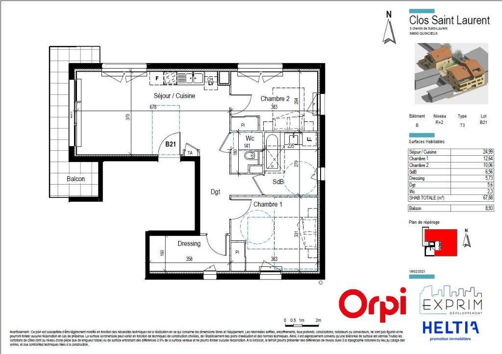 Appartement à vendre 3 67.88m2 à Quincieux vignette-2