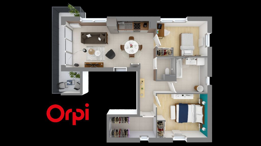 Appartement à vendre 3 67.88m2 à Quincieux vignette-3