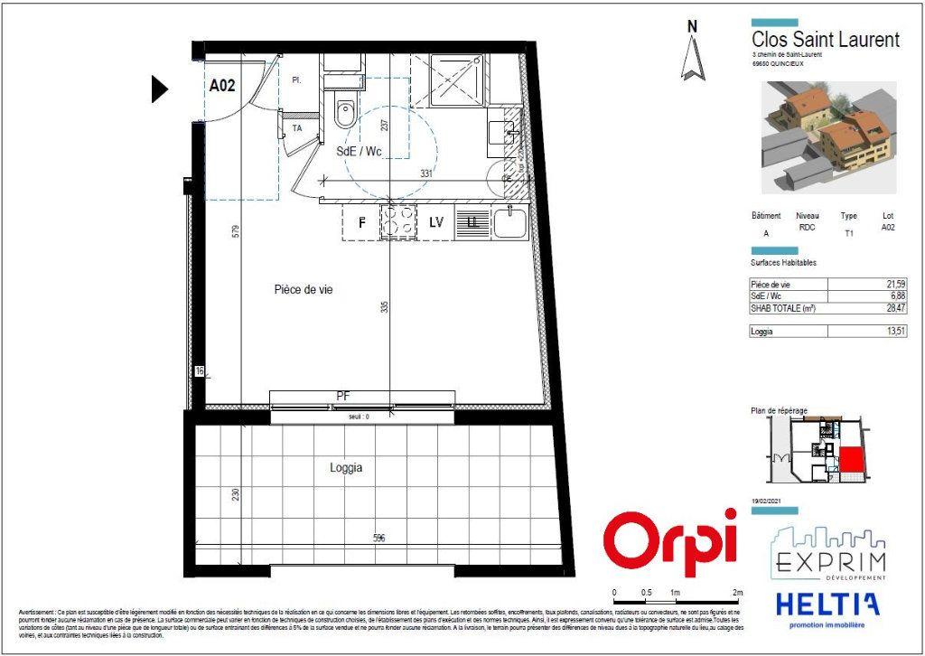 Appartement à vendre 1 28.47m2 à Quincieux vignette-2