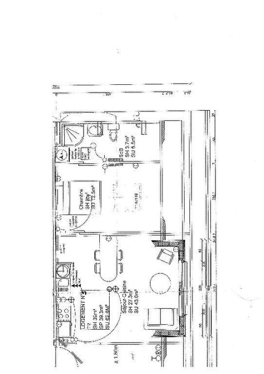 Appartement à louer 2 38.11m2 à Quesnoy-sur-Deûle plan-1
