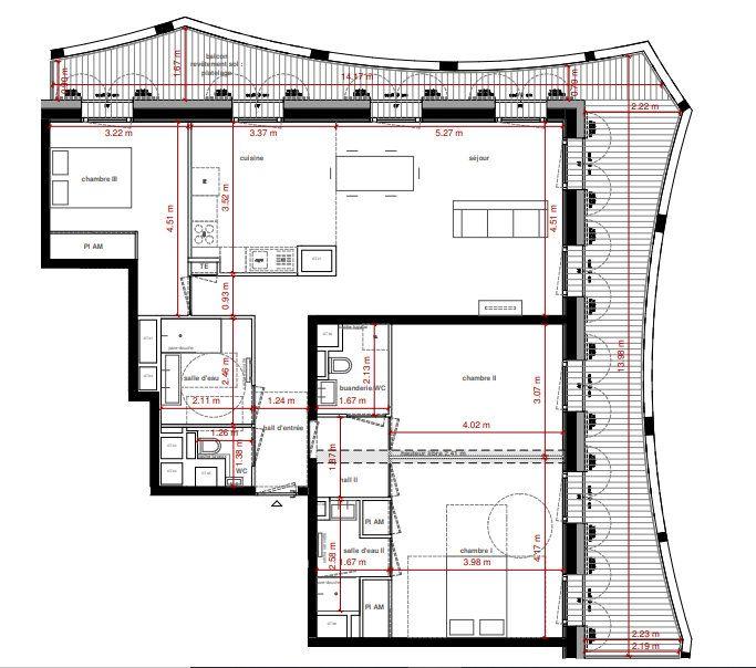Appartement à vendre 4 101.91m2 à Lyon 2 vignette-7