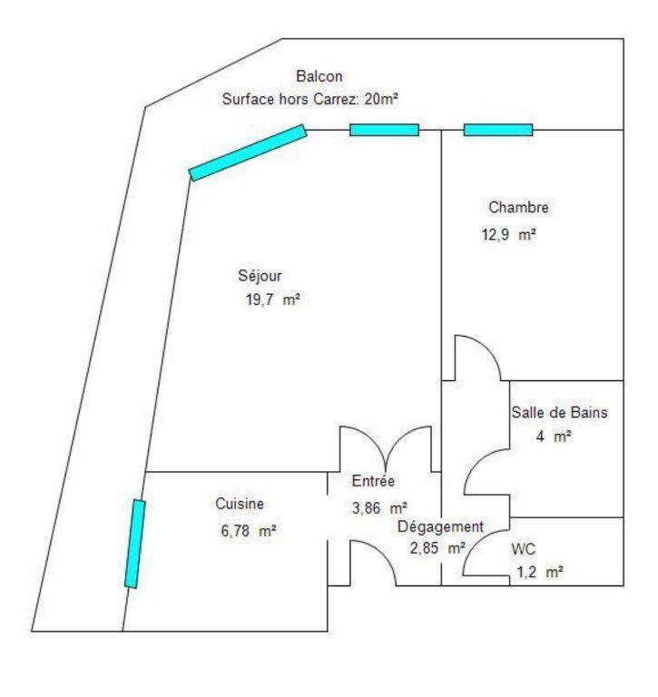 Appartement à vendre 2 51.29m2 à Roquebrune-Cap-Martin plan-1