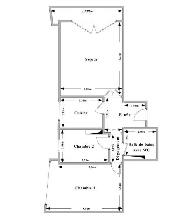 Appartement à vendre 3 79m2 à Roquebrune-Cap-Martin plan-1
